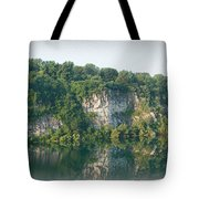 Cedar Hollow Quarry Panorama Tote Bag