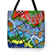 Cedar Key Chart Tote Bag