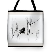 Cedar Waxwing - Black And White  Tote Bag