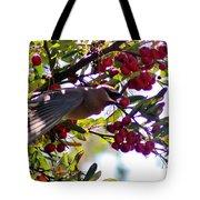 Cedar Waxwing In Flight 030515a Tote Bag