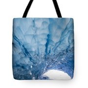 Jagged Ceiling Of Paradise Ice Cave Tote Bag