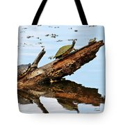 Happy Family Of Turtles Tote Bag