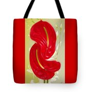 Celebration - Red Anthurium And White Orchids  Tote Bag