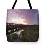 Celery Fields Sunset Tote Bag