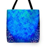 Celestial Blue Heart Tote Bag