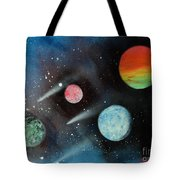 Celestial Planets Tote Bag
