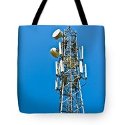Cell Tower And Radio Antennae Tote Bag