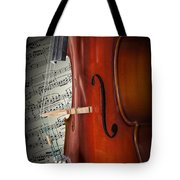 Cello Bridge And Beethoven Tote Bag