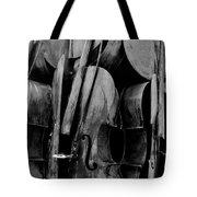 Cellos 6 Black And White Tote Bag