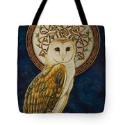 Celtic Barn Owl Tote Bag