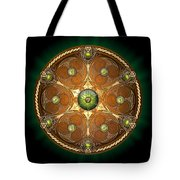 Celtic Chieftain Shield - Emerald Tote Bag by Richard Barnes