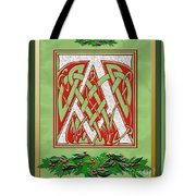 Celtic Christmas A Initial Tote Bag