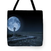 Celtic Cross And Moon Tote Bag