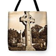 Celtic Cross In Sepia 1 Tote Bag