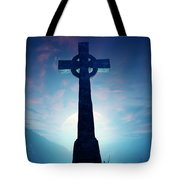 Celtic Cross With Moon Tote Bag