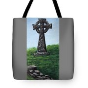 Celtic Cross With Old Irish Blessing Tote Bag