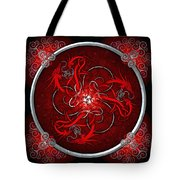 Celtic Dragons - Red Tote Bag by Richard Barnes