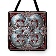 Celtic Hearts - Red Tote Bag
