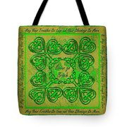 Celtic Irish Clover Home Blessing Tote Bag