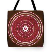 Celtic Lotus Mandala In Pink And Brown Tote Bag