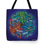 Celtic Mermaid Mandala Tote Bag