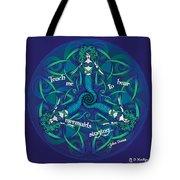 Celtic Mermaid Mandala In Blue And Green Tote Bag