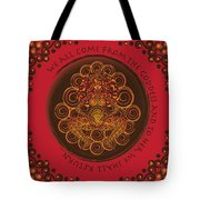 Celtic Pagan Fertility Goddess In Red Tote Bag