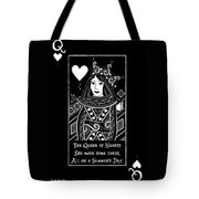 Celtic Queen Of Hearts Part I In Black And White Tote Bag