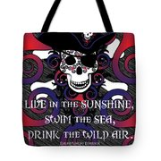 Celtic Spiral Pirate In Blues And Reds Tote Bag