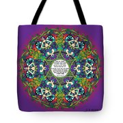 Celtic Spring Fairy Mandala Tote Bag