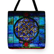Celtic Stained Glass Horizontal Tote Bag