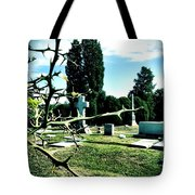 Cematary With Lemon Tree Tote Bag