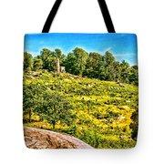 Cemetary Ridge Gettysburg Battleground Tote Bag