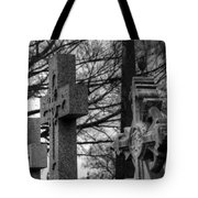Cemetery Crosses Tote Bag