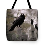 Cemetery Crows Tote Bag