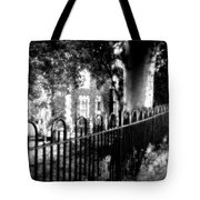 Cemetery Fence Tote Bag
