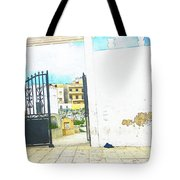 Cemetery Gate Tangier Tote Bag