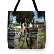 Cemetery Gate With Peeling Paint Tote Bag