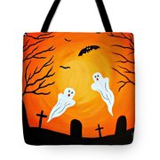 Cemetery Ghosts Tote Bag