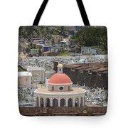 Cemetery In Old San Juan Puerto Rico Tote Bag by Bryan Mullennix