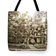 Cemetery Sunflares Tote Bag