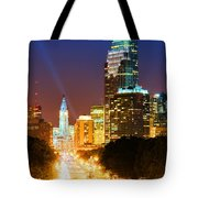 Center City Philadelphia Night Tote Bag