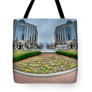 Center Fountain Piece In Piedmont Plaza Charlotte Nc Tote Bag