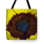Center Of A Sunflower Tote Bag