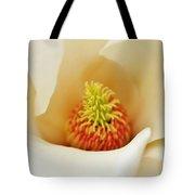 Center Of Magnolia Flower Tote Bag