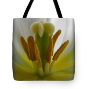 Center Of The Tulip Tote Bag