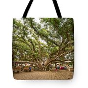 Central Court - Banyan Tree Park In Maui. Tote Bag