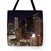 Central Houston At Night Tote Bag