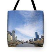 Central Melbourne Skyline By Day Australia Tote Bag