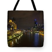 Central Melbourne Skyline In Australia Tote Bag